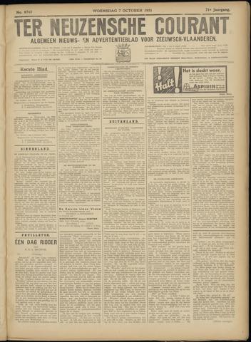 Ter Neuzensche Courant. Algemeen Nieuws- en Advertentieblad voor Zeeuwsch-Vlaanderen / Neuzensche Courant ... (idem) / (Algemeen) nieuws en advertentieblad voor Zeeuwsch-Vlaanderen 1931-10-07
