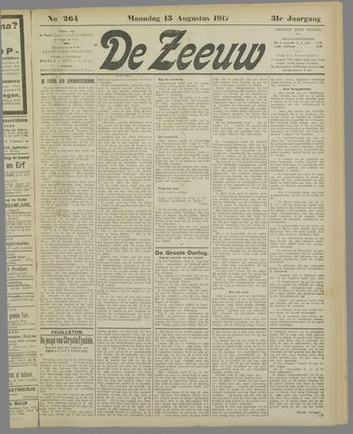 De Zeeuw. Christelijk-historisch nieuwsblad voor Zeeland 1917-08-13