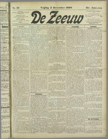De Zeeuw. Christelijk-historisch nieuwsblad voor Zeeland 1920-12-03