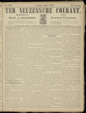 Ter Neuzensche Courant. Algemeen Nieuws- en Advertentieblad voor Zeeuwsch-Vlaanderen / Neuzensche Courant ... (idem) / (Algemeen) nieuws en advertentieblad voor Zeeuwsch-Vlaanderen 1890-03-01