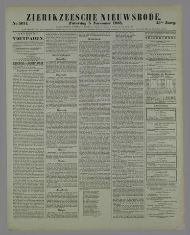 Zierikzeesche Nieuwsbode 1888-11-03