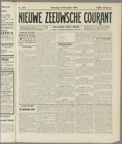 Nieuwe Zeeuwsche Courant 1909-12-25