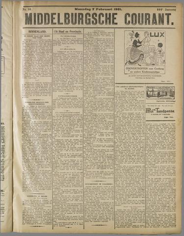 Middelburgsche Courant 1921-02-07