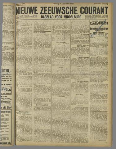 Nieuwe Zeeuwsche Courant 1920-12-07
