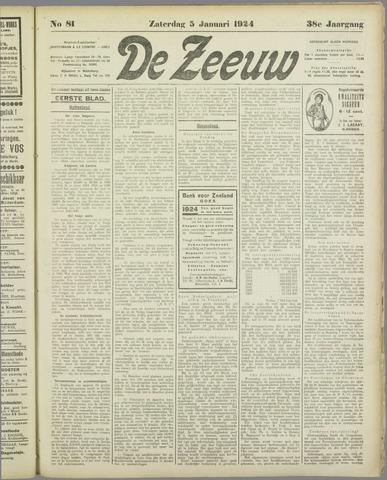 De Zeeuw. Christelijk-historisch nieuwsblad voor Zeeland 1924-01-05