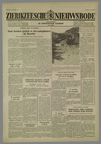 Zierikzeesche Nieuwsbode 1958-08-26