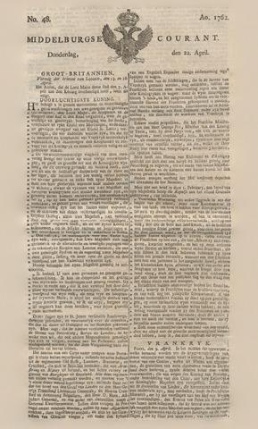 Middelburgsche Courant 1762-04-22