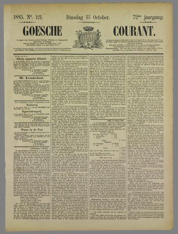 Goessche Courant 1885-10-13