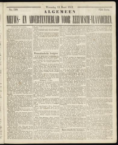 Ter Neuzensche Courant. Algemeen Nieuws- en Advertentieblad voor Zeeuwsch-Vlaanderen / Neuzensche Courant ... (idem) / (Algemeen) nieuws en advertentieblad voor Zeeuwsch-Vlaanderen 1872-03-13