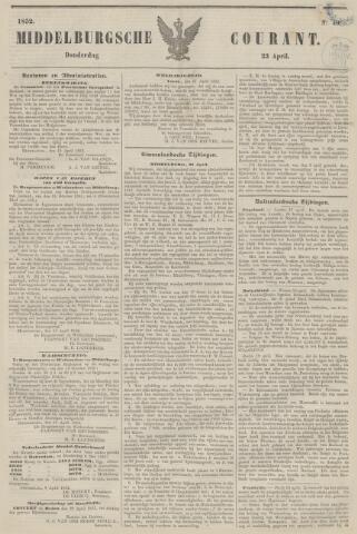 Middelburgsche Courant 1852-04-22