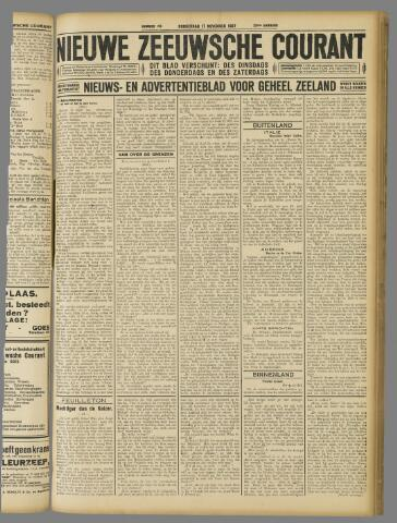 Nieuwe Zeeuwsche Courant 1927-11-17