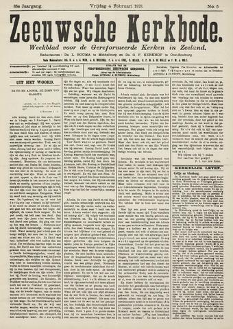 Zeeuwsche kerkbode, weekblad gewijd aan de belangen der gereformeerde kerken/ Zeeuwsch kerkblad 1921-02-04