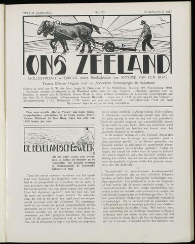 Ons Zeeland / Zeeuwsche editie 1927-08-13