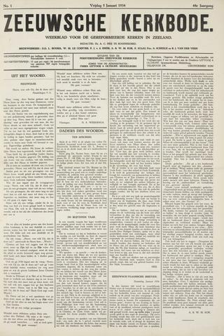 Zeeuwsche kerkbode, weekblad gewijd aan de belangen der gereformeerde kerken/ Zeeuwsch kerkblad 1934