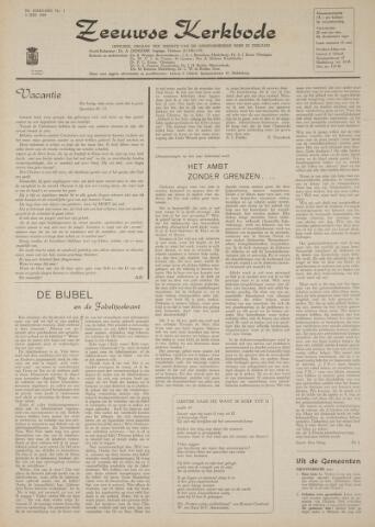Zeeuwsche kerkbode, weekblad gewijd aan de belangen der gereformeerde kerken/ Zeeuwsch kerkblad 1969-07-03