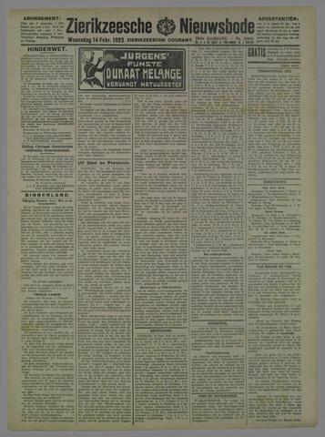 Zierikzeesche Nieuwsbode 1923-02-14