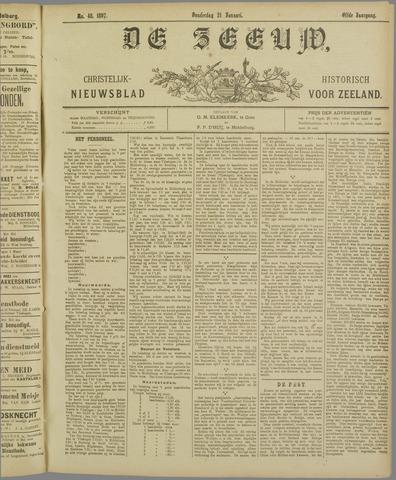 De Zeeuw. Christelijk-historisch nieuwsblad voor Zeeland 1897-01-21