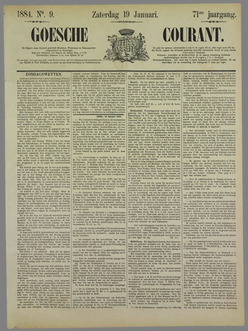 Goessche Courant 1884-01-19