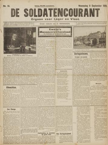 De Soldatencourant. Orgaan voor Leger en Vloot 1914-09-09