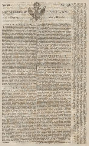 Middelburgsche Courant 1758-12-05