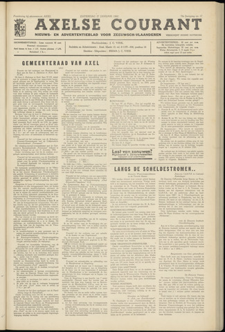 Axelsche Courant 1962-01-27
