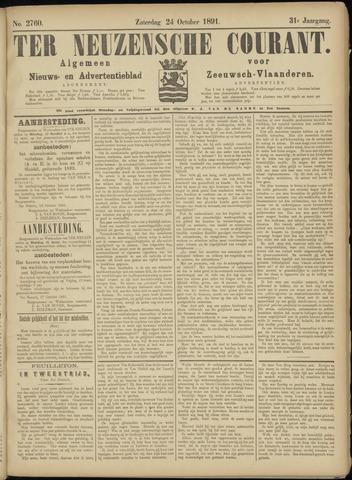 Ter Neuzensche Courant. Algemeen Nieuws- en Advertentieblad voor Zeeuwsch-Vlaanderen / Neuzensche Courant ... (idem) / (Algemeen) nieuws en advertentieblad voor Zeeuwsch-Vlaanderen 1891-10-24