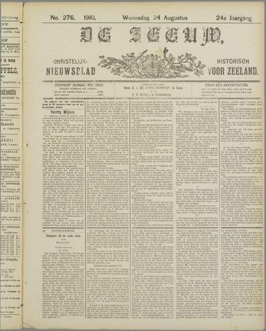 De Zeeuw. Christelijk-historisch nieuwsblad voor Zeeland 1910-08-24