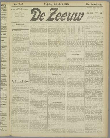 De Zeeuw. Christelijk-historisch nieuwsblad voor Zeeland 1917-07-20