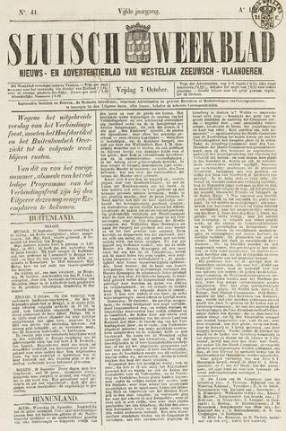 Sluisch Weekblad. Nieuws- en advertentieblad voor Westelijk Zeeuwsch-Vlaanderen 1864-10-07