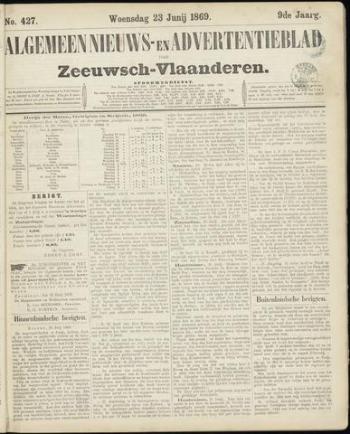 Ter Neuzensche Courant. Algemeen Nieuws- en Advertentieblad voor Zeeuwsch-Vlaanderen / Neuzensche Courant ... (idem) / (Algemeen) nieuws en advertentieblad voor Zeeuwsch-Vlaanderen 1869-06-23