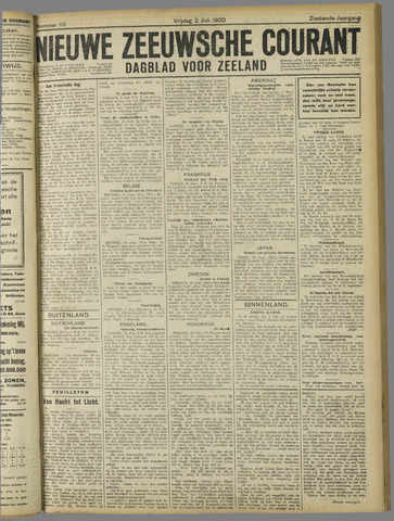 Nieuwe Zeeuwsche Courant 1920-07-02