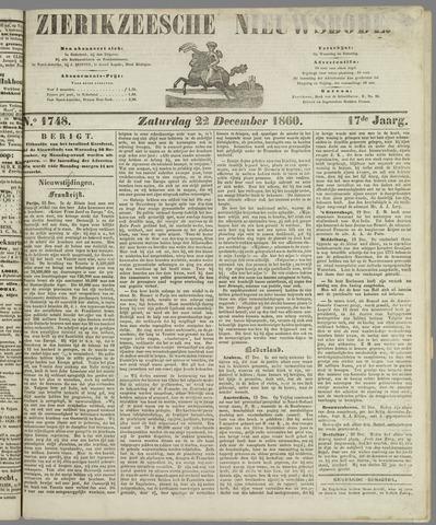 Zierikzeesche Nieuwsbode 1860-12-22