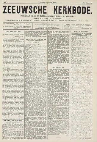 Zeeuwsche kerkbode, weekblad gewijd aan de belangen der gereformeerde kerken/ Zeeuwsch kerkblad 1938-01-21