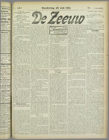 De Zeeuw. Christelijk-historisch nieuwsblad voor Zeeland 1921-07-28