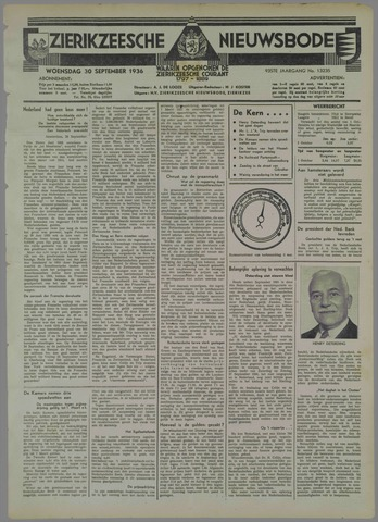 Zierikzeesche Nieuwsbode 1936-09-30