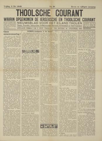 Ierseksche en Thoolsche Courant 1940