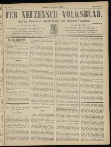 Ter Neuzensch Volksblad. Vrijzinnig nieuws- en advertentieblad voor Zeeuwsch- Vlaanderen / Zeeuwsch Nieuwsblad. Nieuws- en advertentieblad voor Zeeland 1913-01-18