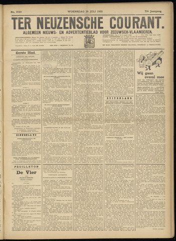 Ter Neuzensche Courant. Algemeen Nieuws- en Advertentieblad voor Zeeuwsch-Vlaanderen / Neuzensche Courant ... (idem) / (Algemeen) nieuws en advertentieblad voor Zeeuwsch-Vlaanderen 1933-07-26
