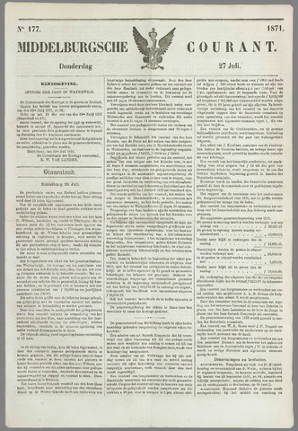 Middelburgsche Courant 1871-07-27