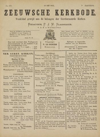 Zeeuwsche kerkbode, weekblad gewijd aan de belangen der gereformeerde kerken/ Zeeuwsch kerkblad 1889-05-18