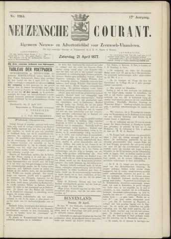 Ter Neuzensche Courant. Algemeen Nieuws- en Advertentieblad voor Zeeuwsch-Vlaanderen / Neuzensche Courant ... (idem) / (Algemeen) nieuws en advertentieblad voor Zeeuwsch-Vlaanderen 1877-04-21