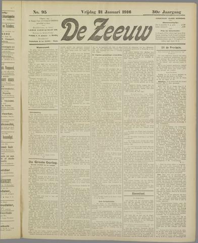 De Zeeuw. Christelijk-historisch nieuwsblad voor Zeeland 1916-01-21