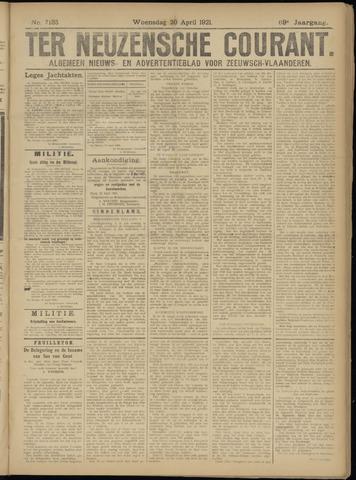 Ter Neuzensche Courant. Algemeen Nieuws- en Advertentieblad voor Zeeuwsch-Vlaanderen / Neuzensche Courant ... (idem) / (Algemeen) nieuws en advertentieblad voor Zeeuwsch-Vlaanderen 1921-04-20