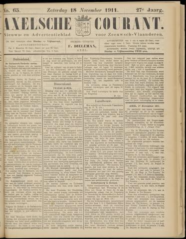 Axelsche Courant 1911-11-18