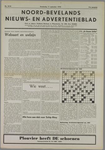 Noord-Bevelands Nieuws- en advertentieblad 1970-09-17