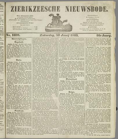 Zierikzeesche Nieuwsbode 1860-06-30