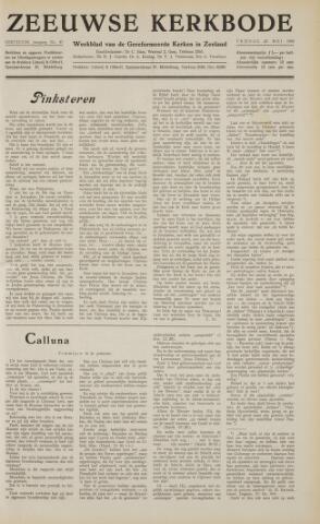 Zeeuwsche kerkbode, weekblad gewijd aan de belangen der gereformeerde kerken/ Zeeuwsch kerkblad 1958-05-23