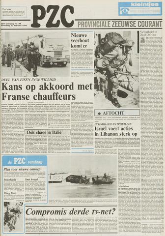Provinciale Zeeuwse Courant 1984-02-22