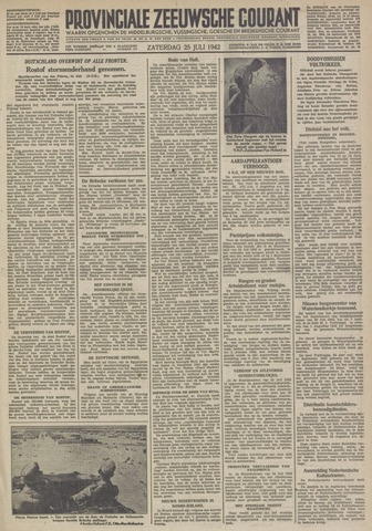 Provinciale Zeeuwse Courant 1942-07-25