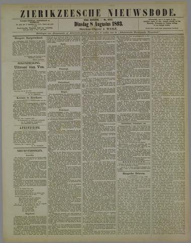 Zierikzeesche Nieuwsbode 1893-08-08